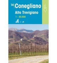 Wanderkarten Italien Rad-, Wander- und Reitkarte Odòs 14, Conegliano, Alto Trevigiano 1:30.000 Odos