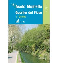 Wanderkarten Italien Rad-, Wander- und Reitkarte Odòs 15, Asolo, Montello, Quartier del Piave 1:30.000 Odos