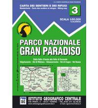Wanderkarten Italien IGC-Wanderkarte 3, Parco Nazionale Gran Paradiso 1:50.000 Istituto Geografico Centrale