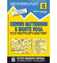 Wanderkarten Schweiz & FL IGC-Wanderkarte 5, Cervino/Matterhorn, Monte Rosa 1:50.000 Istituto Geografico Centrale