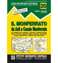 Wanderkarten Italien IGC WK 20 Italien - Il Monferrato da Asti a Casale Monferrato 1:50.000 Istituto Geografico Centrale