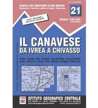 Wanderkarten Italien IGC WK 21 Italien - Il Canavese da Ivrea a Chivasso 1:50.000 Istituto Geografico Centrale
