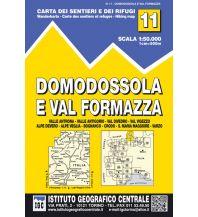 Wanderkarten Schweiz & FL IGC-Wanderkarte 11, Domodossola e Val Formazza 1:50.000 Istituto Geografico Centrale
