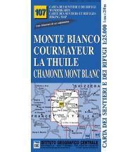 Wanderkarten Italien IGC-Wanderkarte 107, Monte Bianco, Courmayeur, Chamonix, La Thuile 1:25.000 Istituto Geografico Centrale