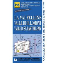 Wanderkarten Italien IGC WK Bl. 115 Italien - La Valpelline 1:30:000 Istituto Geografico Centrale