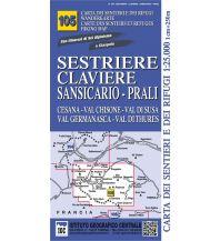 Wanderkarten Italien IGC WK 105 Italien Alpin - Alta Valle Susa, Chisone, Germanasca 1:25.000 Istituto Geografico Centrale