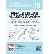 Wanderkarten Italien IGC-Wanderkarte 15, Finale Ligure, Alassio, Savona 1:50.000 Istituto Geografico Centrale