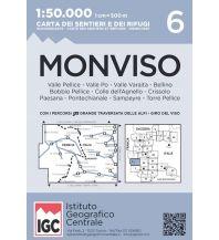 Wanderkarten Italien IGC WK 6 Italien - Monviso 1:50.000 Istituto Geografico Centrale