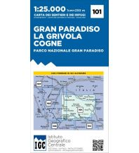 Wanderkarten Italien IGC-Wanderkarte 101, Gran Paradiso, La Grivola, Cogne 1:25.000 Istituto Geografico Centrale