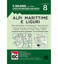 Wanderkarten Italien IGC-Wanderkarte 8, Alpi Marittime & Liguri/Seealpen & Ligurische Alpen 1:50.000 Istituto Geografico Centrale