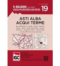 Wanderkarten Italien IGC Wanderkarte 19, Asti, Alba, Acqui Terme 1:50.000 Istituto Geografico Centrale