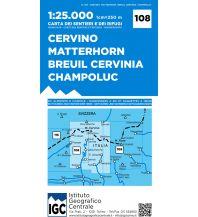 IGC WK 108 Italien Alpin - Cervino / Matterhorn, Breuil-Cervinia, Champoluc 1:25.000 Istituto Geografico Centrale