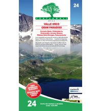 Wanderkarten Italien Fraternali-Wanderkarte 24, Alta Valle Orco, Gran Paradiso 1:25.000 Fraternali Editore