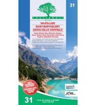Wanderkarten Italien Fraternali-Wanderkarte 31, Valpelline, Saint-Barthélemy, Aosta-Valle Centrale 1:25.000 Fraternali Editore