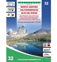 Fraternali Wanderkarte 32, Monte Cervino/Matterhorn, Valtournenche, Alta Val d'Ayas 1:25.000 Fraternali Editore