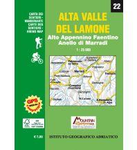 Wanderkarten IGA WK 22 Italien Außeralpin - Alta Valle del Lamone 1:25.000 Istituto adria