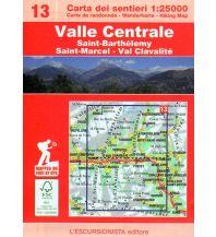 Wanderkarten Italien Escursionista-Karte 13, Valle Centrale 1:25.000 L'Escursionista