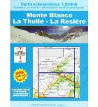 Skitourenkarten Escursionista-Skiwanderkarte Monte Bianco/Mont Blanc, La Thuile, La Rosière 1:25.000 L'Escursionista