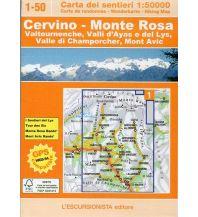 Wanderkarten Italien Escursionista-Karte 1-50, Cervino/Matterhorn, Monte Rosa 1:50.000 L'Escursionista