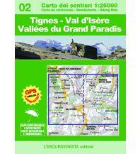Wanderkarten Italien Escursionista-Karte 02, Tignes, Val d'Isère, Vallées du Grand Paradis 1:25.000 L'Escursionista