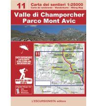 Wanderkarten Italien Escursionista-Karte 11, Valle di Champorcher, Parco Mont Avic 1:25.000 L'Escursionista