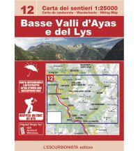 Wanderkarten Italien Escursionista-Karte 12, Basse Valli d'Ayas e del Lys 1:25.000 L'Escursionista