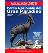 Carta dei sentieri Parco Nazionale del Gran Paradiso 1:25.000 L'Escursionista