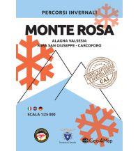 Skitourenkarten Geo4Map Wintersportkarte Monte Rosa 1:25.000 Geo4map