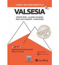 Wanderkarten Italien Geo4Map-Wanderkarte 4, Valsesia Quadrante Nord-Ovest 1:25.000 Geo4map