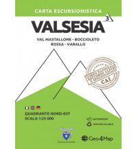 Wanderkarten Italien Geo4Map-Wanderkarte 3, Valsesia Quadrante Nord-Est 1:25.000 Geo4map