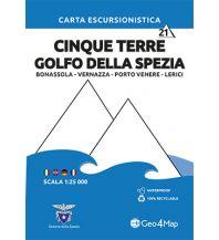 Wanderkarten Apennin Geo4Map-Wanderkarte 21, Cinque Terre, Golfo della Spezia 1:25.000 Geo4map