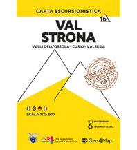 Wanderkarten Italien Geo4Map WK 16 Italien Alpin - Val Strona 1:25.000 Geo4map