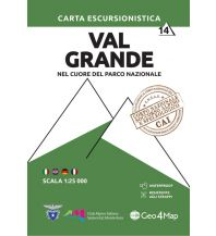 Wanderkarten Italien Geo4Map Wanderkarte 14, Val Grande 1:25.000 Geo4map