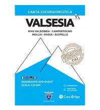 Wanderkarten Geo4Map WK 01 Italien Alpin - Valsesia Quadrante Sud-Ovest 1:25.000 Geo4map