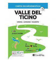 Wanderkarten Italien Geo4Map Wanderkarte Valle del Ticino 1, 1:50.000 Geo4map