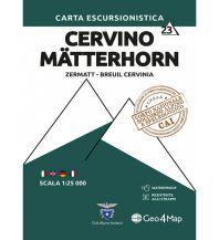 Geo4Map Wanderkarte 23, Cervino/Mätterhorn 1:25.000 Geo4map