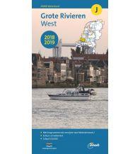 Revierführer Binnen ANWB Waterkaart J 2018/2019 - Grote Rivieren West 1:50.000 ANWB