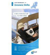 Kanusport ANWB Waterkaart 14, Zeeuwese Delta 1:50.000 ANWB