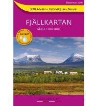 Wanderkarten Skandinavien Fjällkartan BD6, Abisko, Kebnekaise, Narvik 1:100.000 Lantmäteriverket