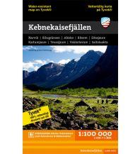 Wanderkarten Schweden Calazo Hiking Map Tyvek Schweden - Kebnekaisefjällen 1:100.000 Calazo