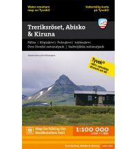 Wanderkarten Skandinavien Calazo Tyvek Hiking Map Treriksröset, Abisko & Kiruna 1:100.000 Calazo