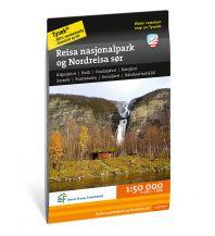 Wanderkarten Skandinavien Calazo Hiking Map Reisa nasjonalpark og Nordreisa sør 1:50.000 Calazo