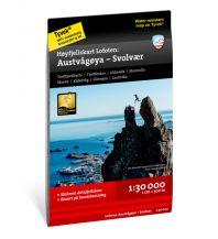 Wanderkarten Skandinavien Calazo Höyfjellskart Norwegen - Lofoten - Austvagöya - Svolvär 1:30.000 Calazo