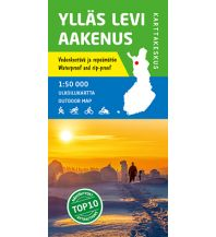 Wanderkarten Skandinavien Karttakeskus Wanderkarte Finnland - Ylläs, Levi, Aakenus 1:50.000 Karttakeskus Oy