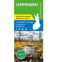 Wanderkarten Skandinavien Karttakeskus Outdoor Map Lemmenjoki 1:100.000/1:50.000 Karttakeskus Oy