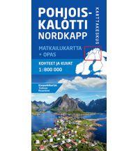 Straßenkarten Skandinavien Karttakeskus Straßenkarte Nordskandinavien - Pohjoiskalotti, Nordkapp 1:800.000 Karttakeskus Oy