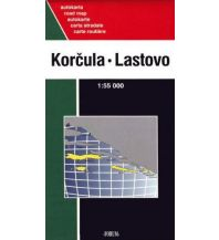 Straßenkarten Kroatien Forum Autokarte Kroatien Korcula, Lastovo, Mljet, Šipan, Lopud, Kolocep 1:70.000 Forum Verlag