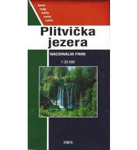 Wanderkarten Kroatien Karte Plitvicka jezera Nacionalni Park 1:30.000 Forum Verlag