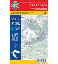 Wanderkarten Kroatien HGSS-Wanderkarte Kamešnica 1:25.000 Hrvatska Gorska Sluzba Spasavanja