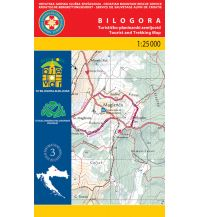 Wanderkarten Kroatien HGSS-Wanderkarte Bilogora 1:25.000 Hrvatska Gorska Sluzba Spasavanja